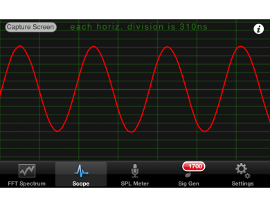 iPhone Oscilloscope